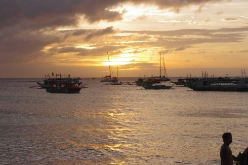 Sunset off Boracay