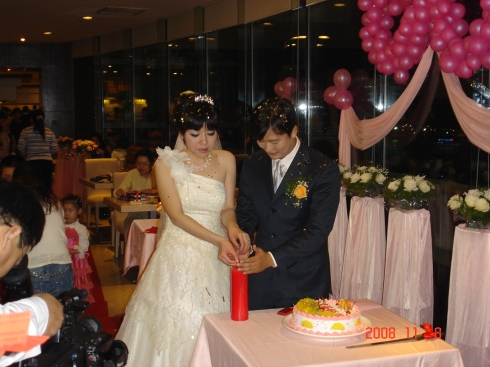 The first wedding I went to in China - it was a buffet style with the bride and groom singing karaoke in the middle.  They are still dear friends today.
