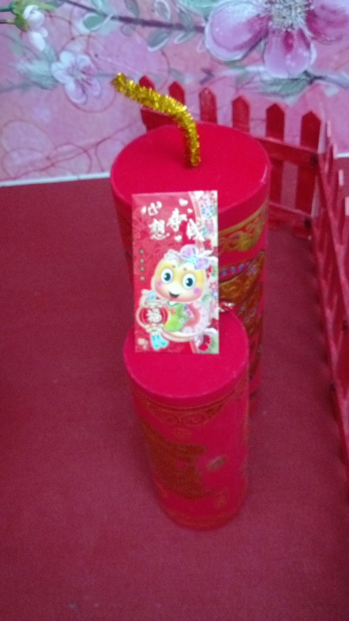 The ubiquitous hong bao!  This one with a cute little snake