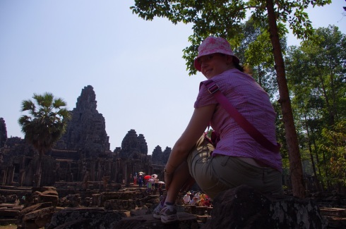 Getting ready to explore Bayon Temple