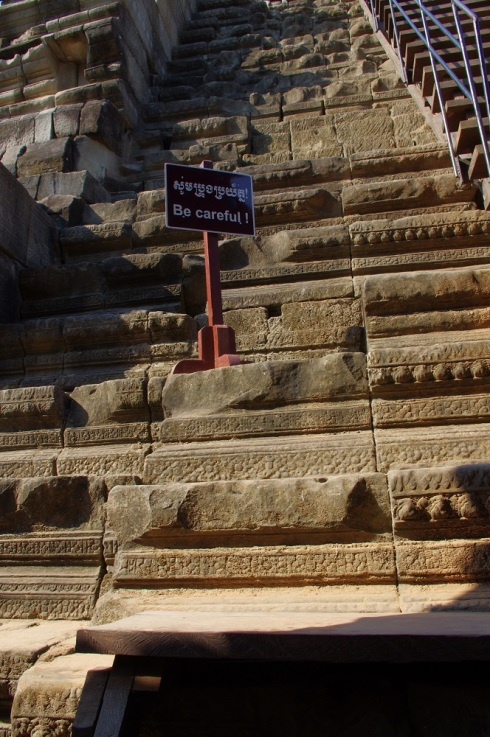The original steps - I was glad there were wooden steps next to them - I think people's feet must have been smaller