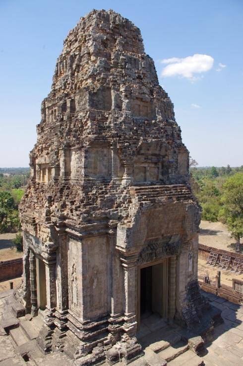The framed smaller temple