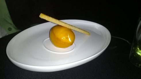 The signature lemon tart dessert - it fools the eye, you can eat the entire thing!