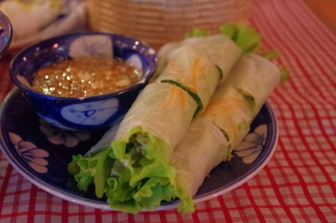 Spring rolls - with a special dipping sauce