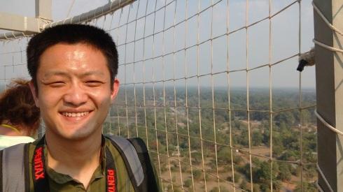 See Angkor Wat over Li's shoulder?