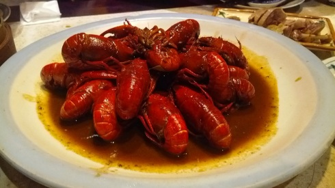 Steamed crayfish - a house specialty