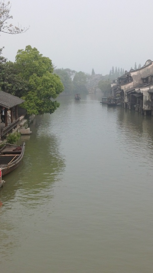 Mist rising off the water - the canals are fairly wide