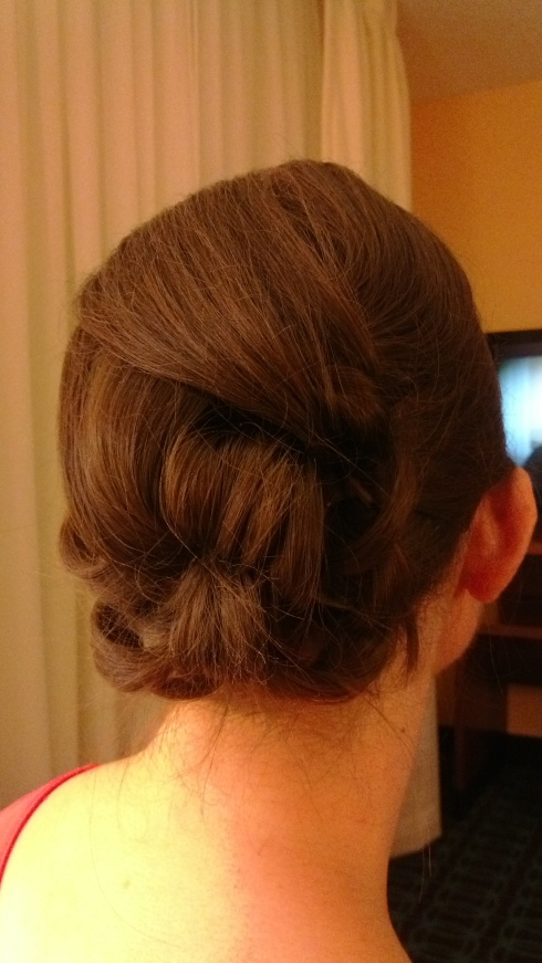 A lovely up-do only possible with longer hair