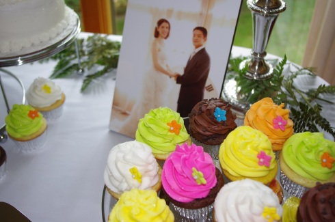 Yummy cupcakes from our wedding reception!