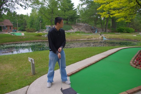 He did hit a hole in one on one hole