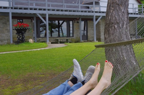 Hammock with feet