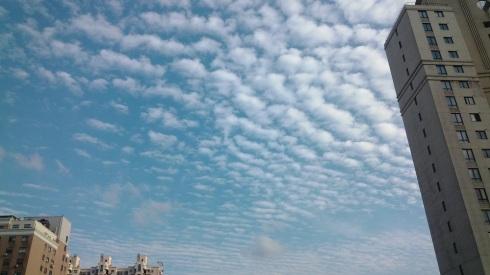 Blue, blue skies...