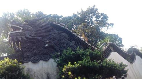 The classic dragon at Yu Yuan Garden
