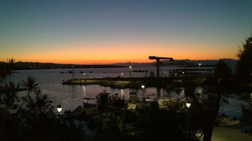 Sunset over Chania, Crete