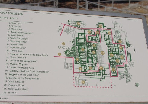 Layout of the palace - with the original descriptions from renovation #1