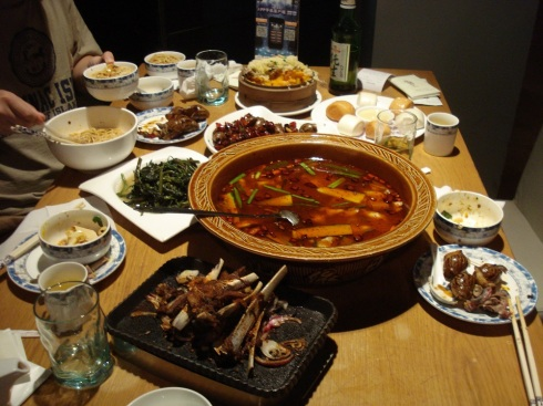 Our table - with all of the different dishes ready to be devoured.