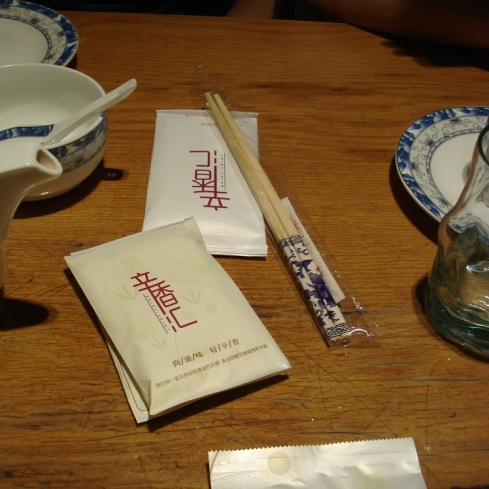 They give you an entire pack of Kleenex with your chopsticks.  Given the spiciness of the food - it gets used up quickly.
