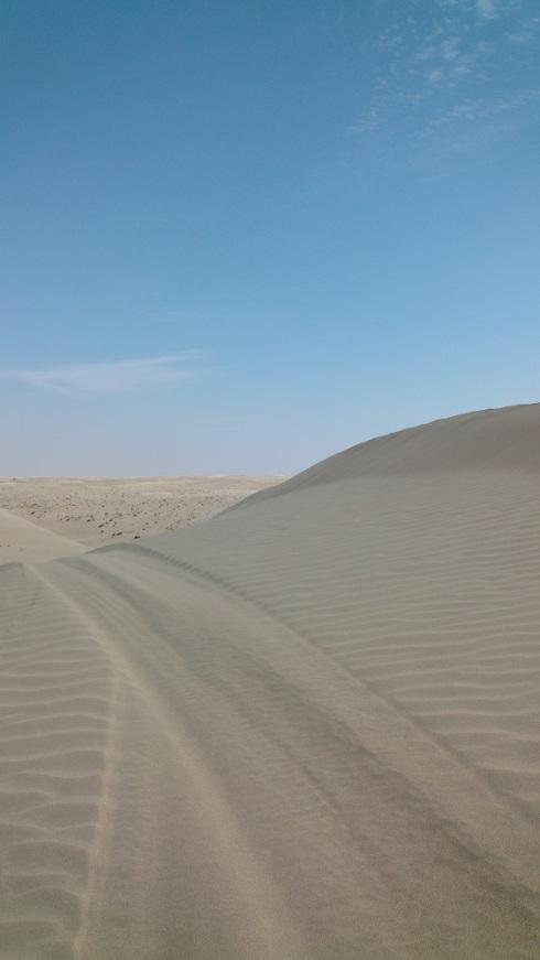 Blue sky over the dunes