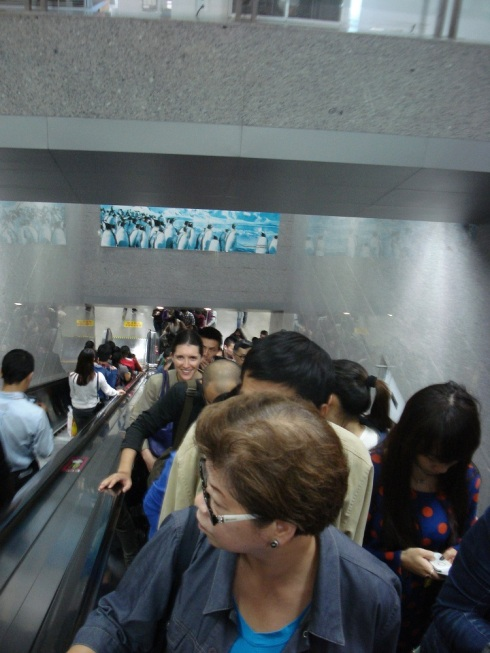 Not during the run to the airport, but to give you a sense of the number of people around