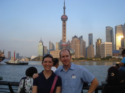 Matt and Greta - Pudong Skyline 1