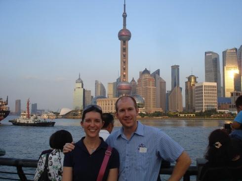 Matt and Greta - Pudong Skyline 1