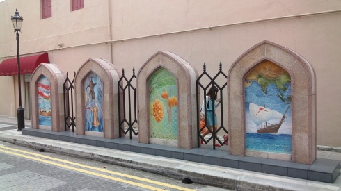 A row of murals lining the streets