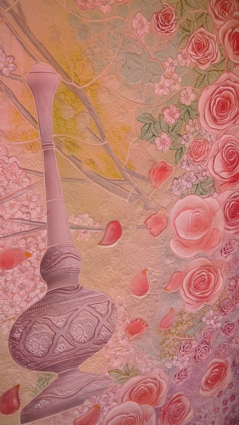 Delicate details in the fresco paintings