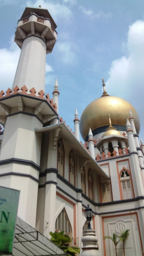 Directly under the turret of the main mosque