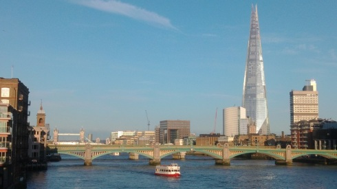 The shard in the distance from another bridge