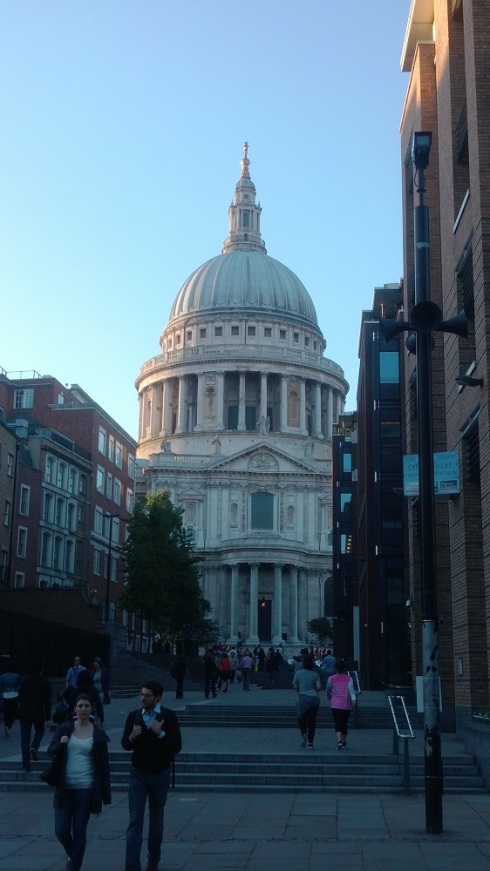 St. Paul's peeking from the bridge